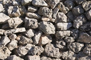 Stone wall with very sharp