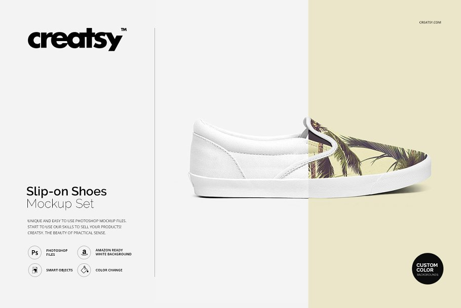 3a1b8a8046bed9 Slip-on Shoes Mockup Set ~ Product Mockups ~ Creative Market