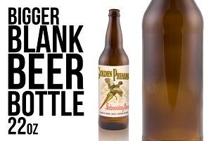 Knocked out beer bottle 22oz
