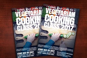 Vegetarian Cooking Class Flyer