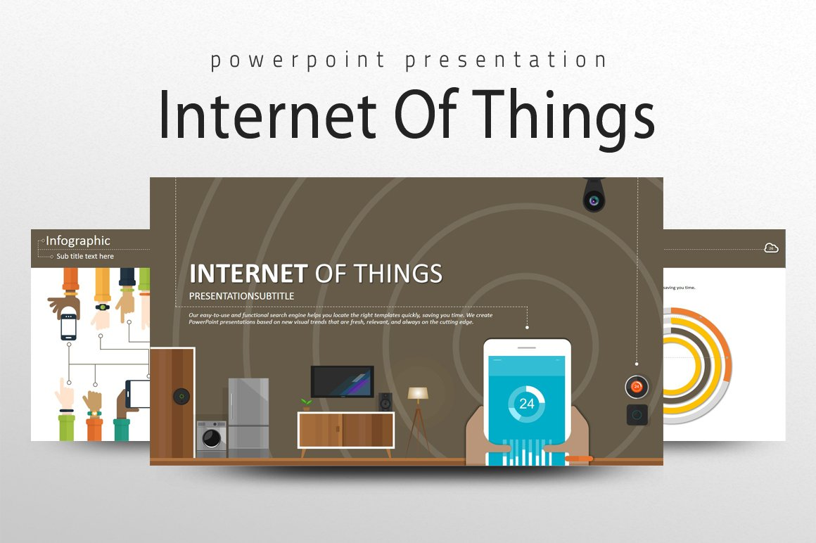 iot ppt presentation templates creative market. Black Bedroom Furniture Sets. Home Design Ideas