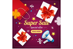 Super Sale Banner Card
