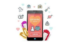 Wedding Planner Concept Mobile