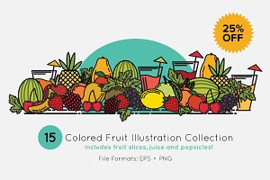15 Juicy Vector Fruit Illustrations