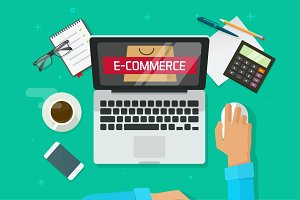 Ecommerce Market Research Vector