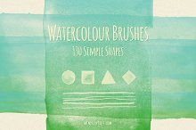 130 Simple Watercolour Brushes