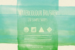 130 Simple Watercolor Brushes
