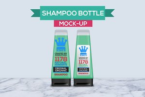 Hair and Body Shampoo Bottle Mock-Up