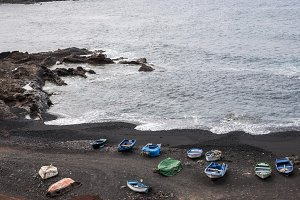 beach full of boats