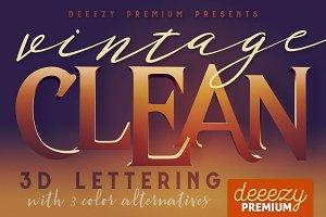 Clean Vintage - 3D Lettering