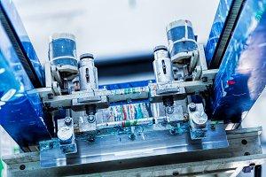 Print screening metal machine details.