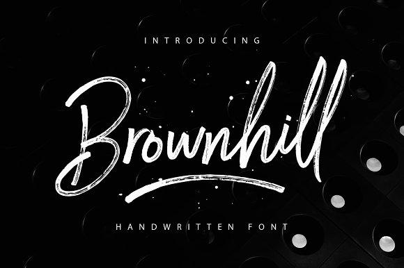 Brownhill Script Fonts Creative Market