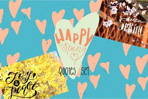 Spring overlay quotes