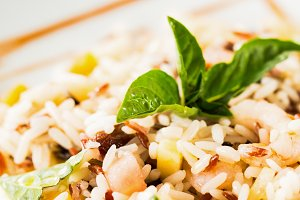 Healthy rice salad