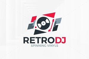 Retro DJ Logo Template