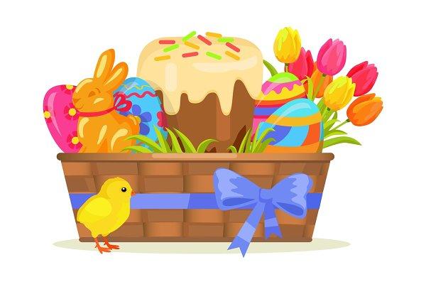 Sweet Cake, Chocolate Bunny, Color…