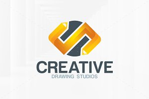 Creative Pencils Logo Template