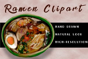 Ramen clipart handdrawn illustration