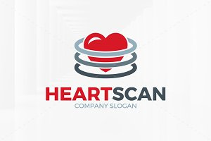 Heart Scan Logo Template