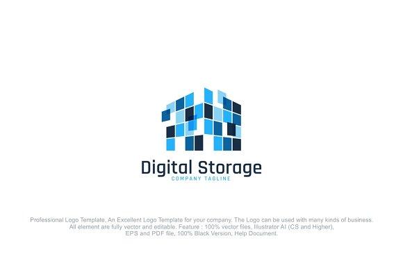 Digital Storage Logo Template