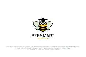 Bee Smart Logo Template