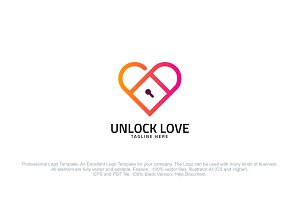Unlock Love Logo Template