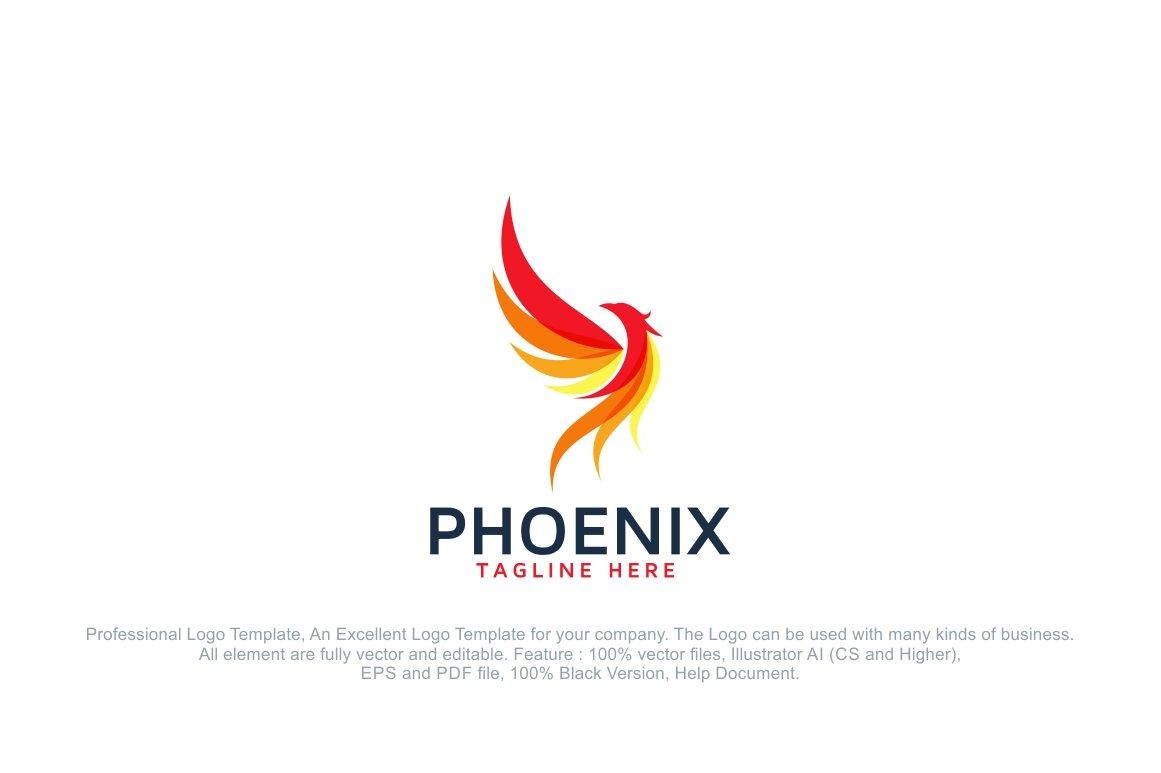 Phoenix Fire Bird Logo Template ~ Logo Templates