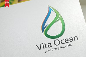 Natural Water / Vita Ocean - Logo