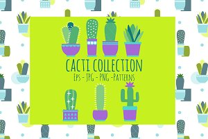 Creative Cacti set Vector