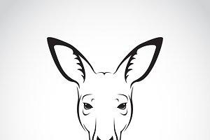 Vector of a kangaroo head.