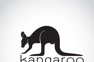 Vector of a kangaroo. Wild Animals.