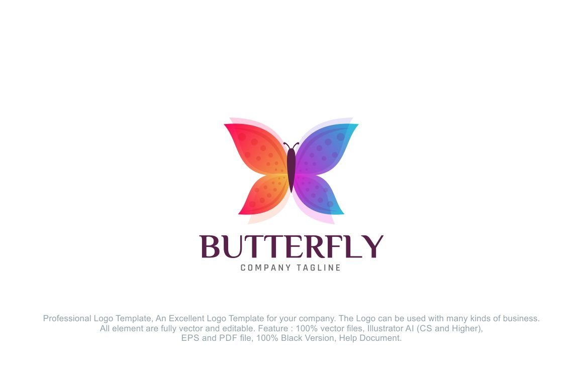 Butterfly Logo Template ~ Logo Templates ~ Creative Market