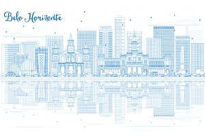 Outline Belo Horizonte Skyline