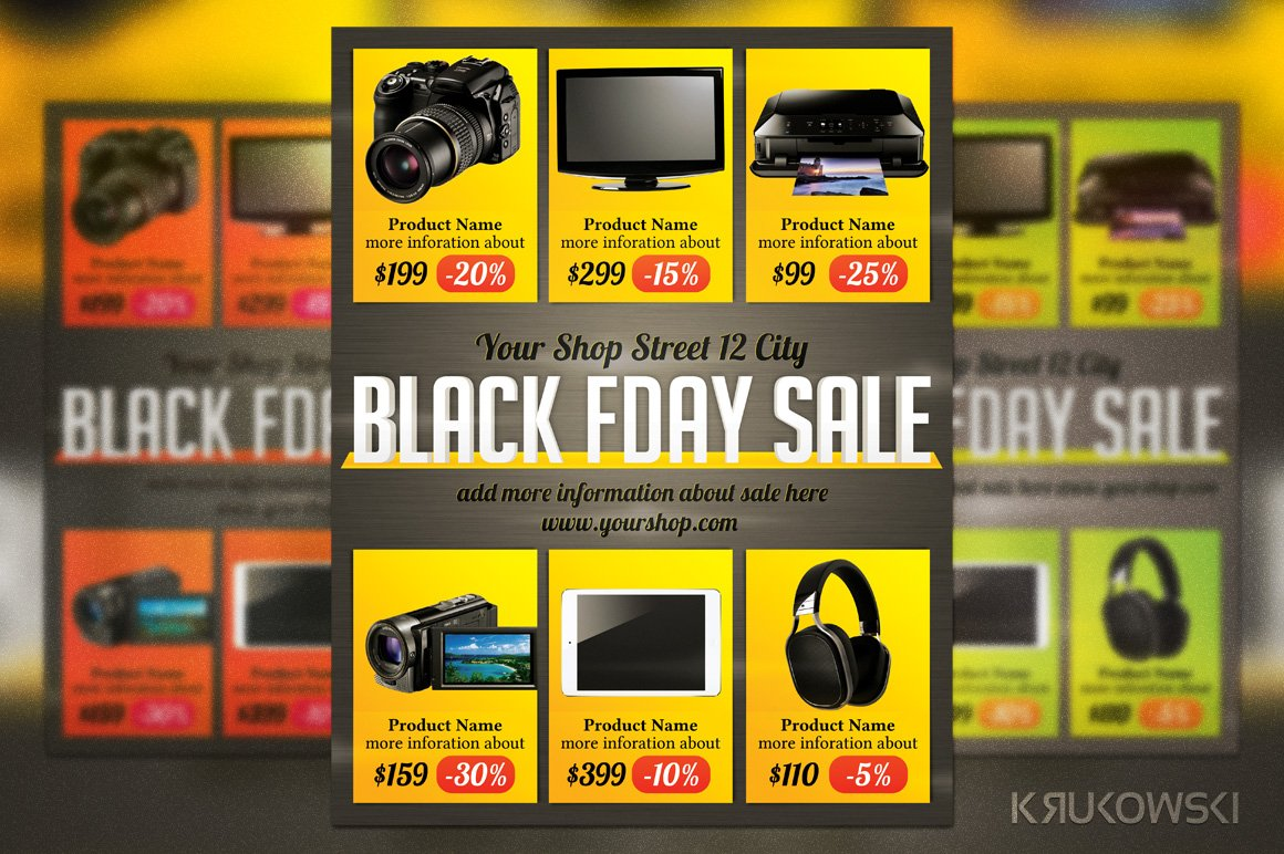 black friday sales flyer template flyer templates creative market