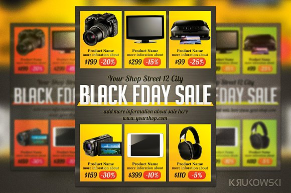Black FriDay Sales Flyer Template Flyer Templates on Creative Market – Sales Flyer Template