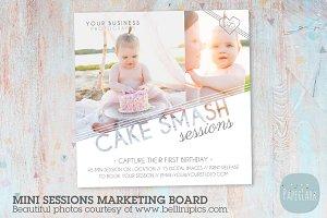 IJ003 Cake Smash Marketing Board
