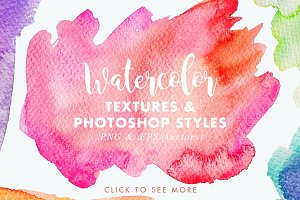 Vector & JPG Watercolor Textures