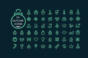 54 Christmas Icons