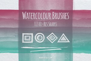 113 Watercolor Brushes