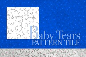 Baby Tears Seamless Pattern Tile