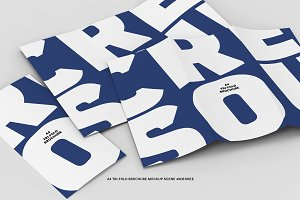 45˚ A4 Tri-fold Brochure (Scene)