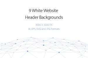 9 White Website Header Backgrounds