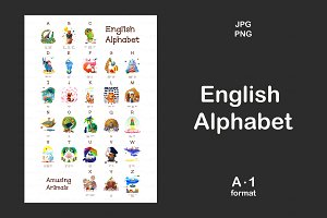♥ English animals alphabet