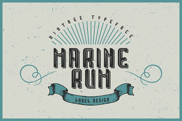 Handcrafted Marine Rum Ladel Font