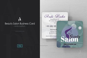 Beauty Salon - Square Business Card