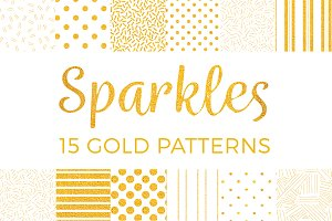 Sparkles - 15 Gold Patterns