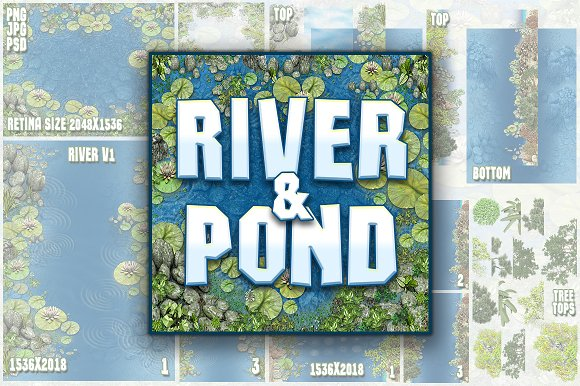 River And Pond Game Backgrounds