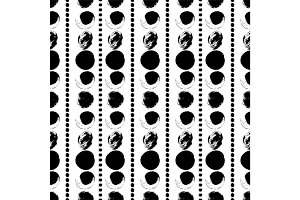 Seamless black and white hand drawn pattern