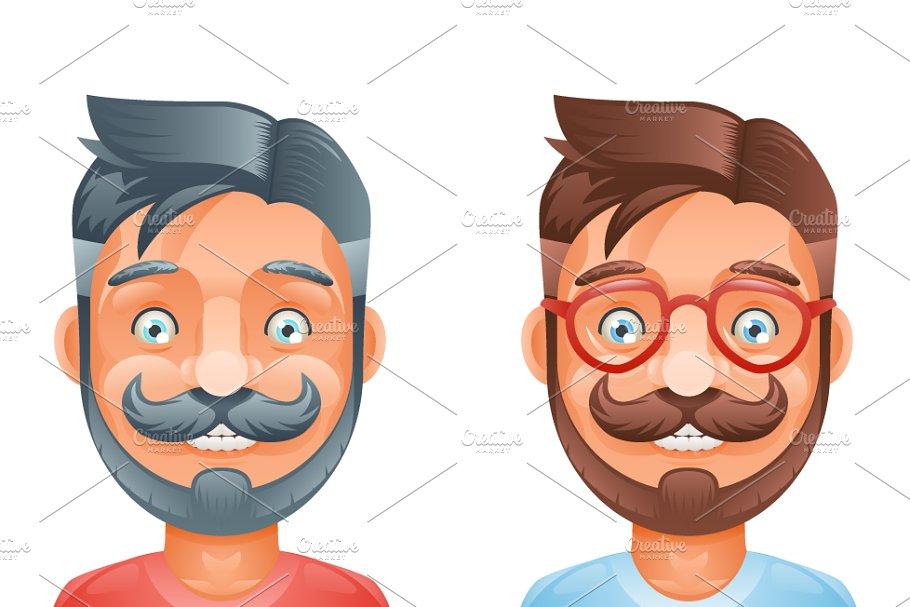 30e7fc43f Geek Hipster Mustache ~ Illustrations ~ Creative Market