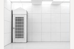 Interior with call-box.